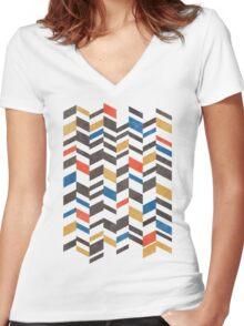 Tower Blocks Women's Fitted V-Neck T-Shirt