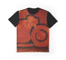 Metalic Red Graphic T-Shirt