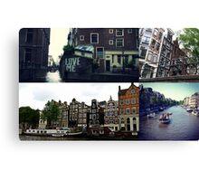 Photo collage Amsterdam 3 Canvas Print