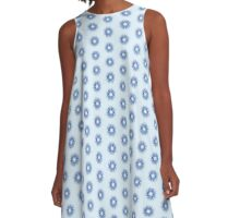 Vector Snowflake A-Line Dress