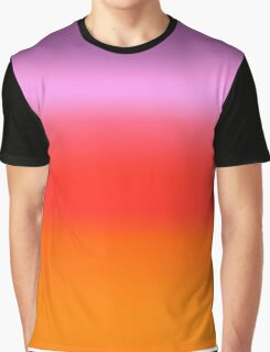 Digital Sunset Gradient Graphic T-Shirt