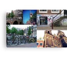 Photo collage Amsterdam 4 Canvas Print