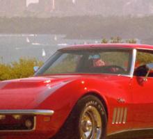 Red Corvette Sticker