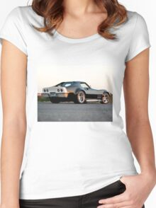 Sunset, Corvette Women's Fitted Scoop T-Shirt