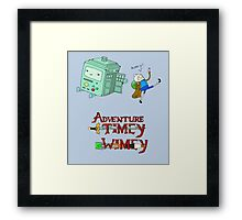 Adventure Timey wimey Framed Print