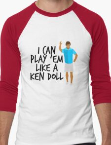 Ken Doll Heart Attack Men's Baseball ¾ T-Shirt