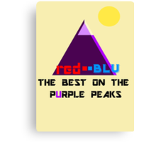 Red-Blu: The Best on the Purple Peaks Canvas Print
