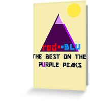 Red-Blu: The Best on the Purple Peaks Greeting Card