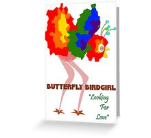 Butterfly Birdgirl Greeting Card