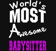 World's Most Awesome Babysitter Womens Fitted T-Shirt