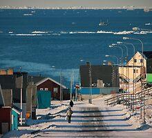 Street in Ilulissat, Greenland by matkowski