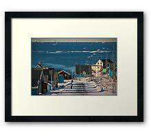 Street in Ilulissat, Greenland Framed Print