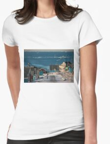 Street in Ilulissat, Greenland Womens Fitted T-Shirt