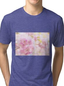 Cute pink cherry blossoms  Tri-blend T-Shirt
