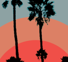 Palm Sunset - Red Sticker