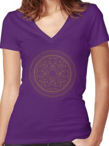 Indigo Home Medallion  Women's Fitted V-Neck T-Shirt