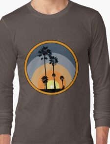 Palm Sunset - Orange Long Sleeve T-Shirt
