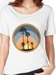 Palm Sunset - Orange Women's Relaxed Fit T-Shirt