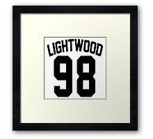 Max Lightwood's Jersey Framed Print