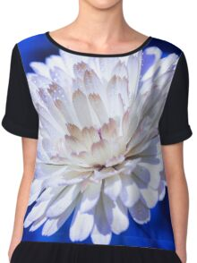 Snow White Petals Chiffon Top