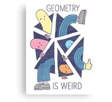 GEOMETRY IS WEIRD! Canvas Print