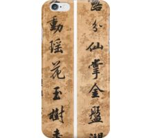Wang Wenzhi  CALLIGRAPHY COUPLET IN RUNNING SCRIPT iPhone Case/Skin