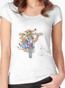 A dingo stole my bike RH Women's Fitted Scoop T-Shirt