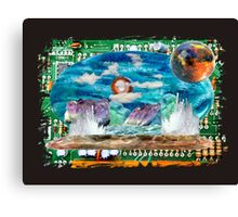 All landscapes through circuitry by Darryl Kravitz Canvas Print