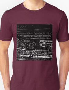Pike Place Market: Black Unisex T-Shirt