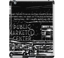 Pike Place Market: Black iPad Case/Skin