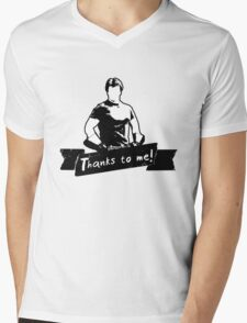 Thanks To You Mens V-Neck T-Shirt