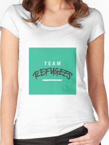 Team Refugees Women's Fitted Scoop T-Shirt