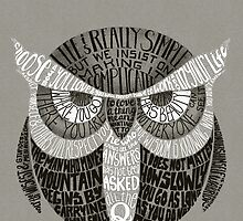 Wise Old Owl Says by littleclyde