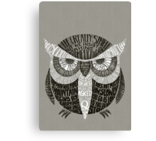 Wise Old Owl Says Canvas Print