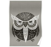 Wise Old Owl Says Poster