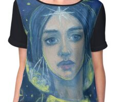 """""""Hecate"""", Goddess of the Moon, pastel painting, fantasy art Chiffon Top"""