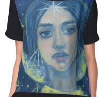 """Hecate"", Goddess of the Moon, pastel painting, fantasy art Chiffon Top"