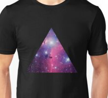 Purple Galaxy Triangle Unisex T-Shirt
