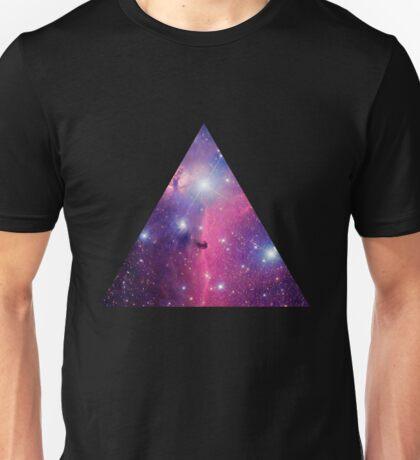 Purple Galaxy Triangle Unisex T-Shirt