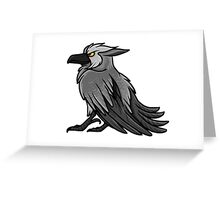 Druid Cuties - Worgen Raven Greeting Card