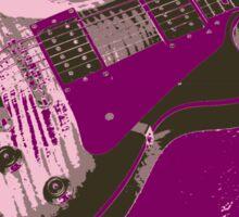 Les Paul Artwork - Purple Sticker