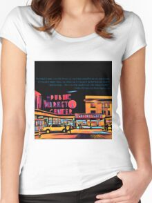 Pike Place Market: Color Women's Fitted Scoop T-Shirt