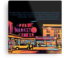 Pike Place Market: Color Metal Print
