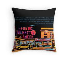 Pike Place Market: Color Throw Pillow