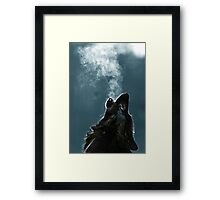 Knight Artorias - The Wolf And The Abyss Framed Print