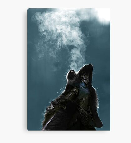Knight Artorias - The Wolf And The Abyss Canvas Print