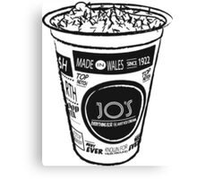 Ice Cream Tub Black & White Canvas Print