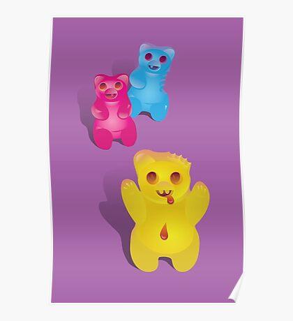 Zombie Gummy Bears Poster