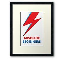 "Original David Bowie ""Absolute beginners"" print Framed Print"