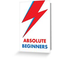 "Original David Bowie ""Absolute beginners"" print Greeting Card"